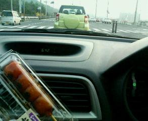 車内朝ご飯